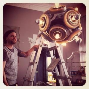 Kodak chandelier by artist Aaron Brand